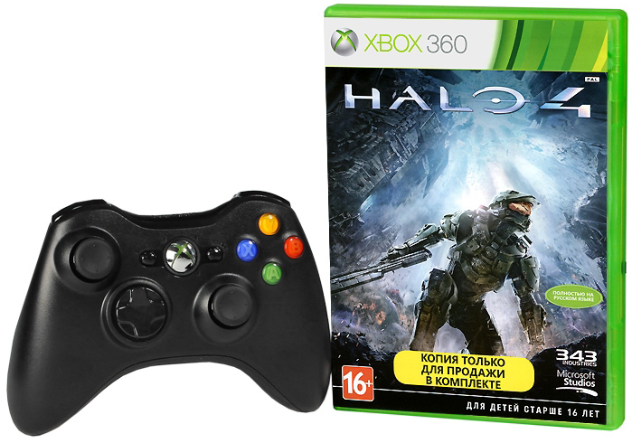 Джойстик для Microsoft Xbox 360 Wireless Controller+Halo 4