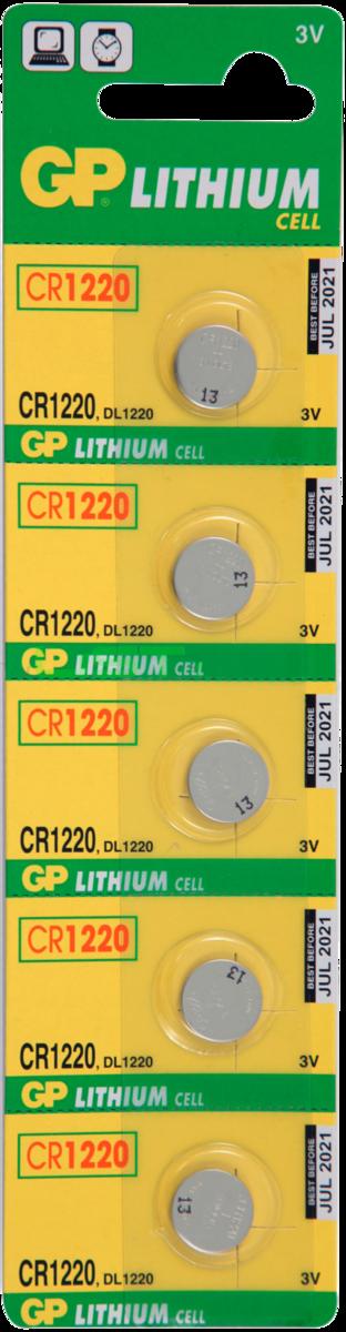 Батарейки GP CR1220-BC5 SotMarket.ru 210.000