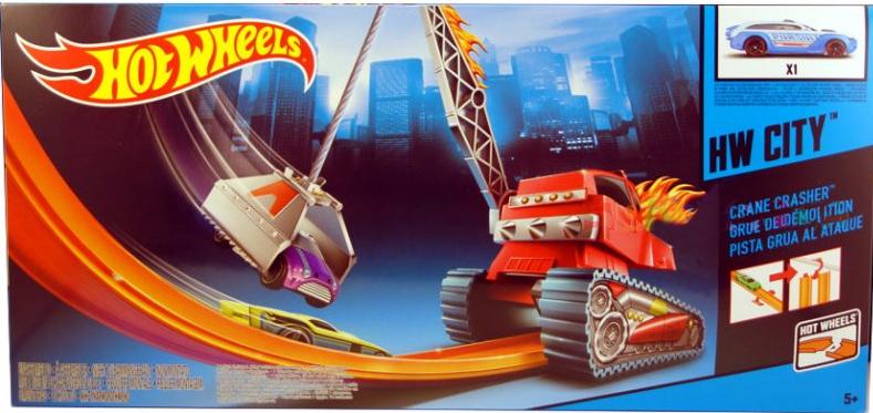 Hot Wheels Эффектный трюк Крушитель кранов Mattel BGH99 SotMarket.ru 1570.000