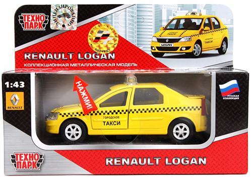 Автомобиль ТЕХНОПАРК Renault Logan Такси 1:43 SB-13-21-3 SotMarket.ru 520.000