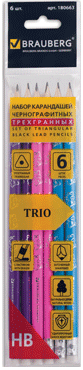 Карандаши BRAUBERG Trio 180663