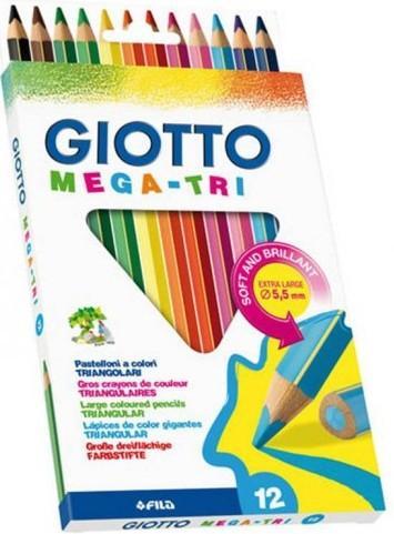 Карандаши GIOTTO MEGA-TRI 220600