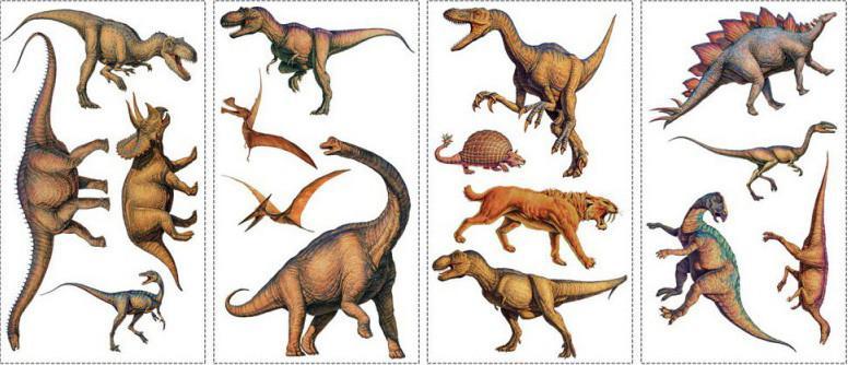 Наклейки на стену RoomMates Динозавры RMK1043SCS