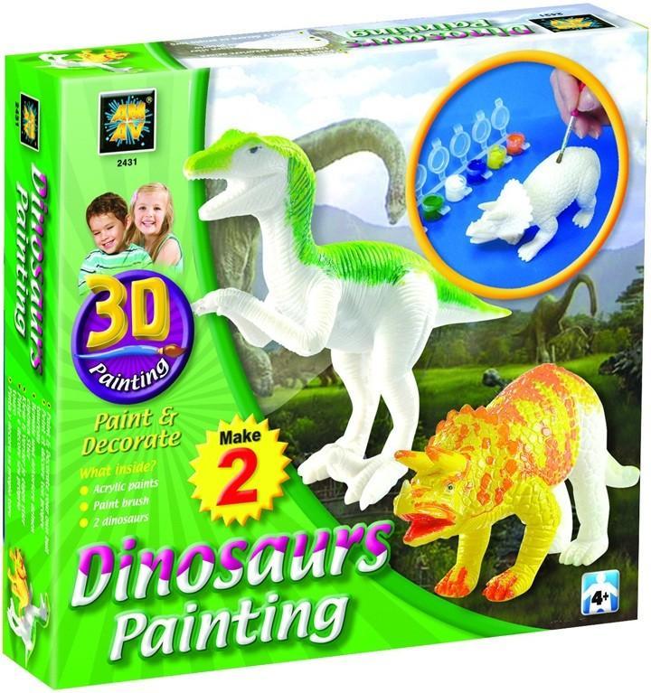 Разрисуй динозавров 3D Amav 2431