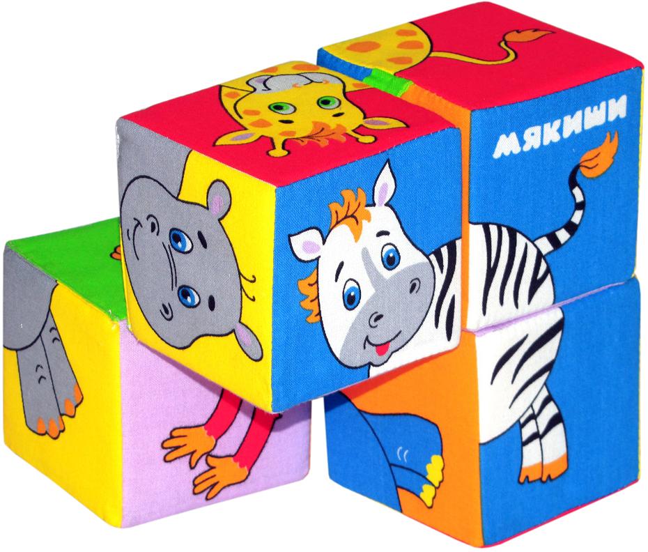 Мякиши Кубики Собери картинку Животные Африки 210