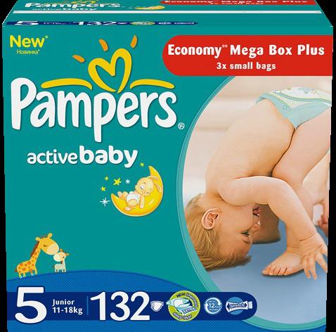 Pampers Active Baby Junior 11-18 кг 132 шт SotMarket.ru 2700.000