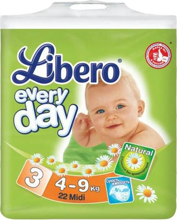 Libero Everyday Midi 4-9 кг 22 шт SotMarket.ru 410.000