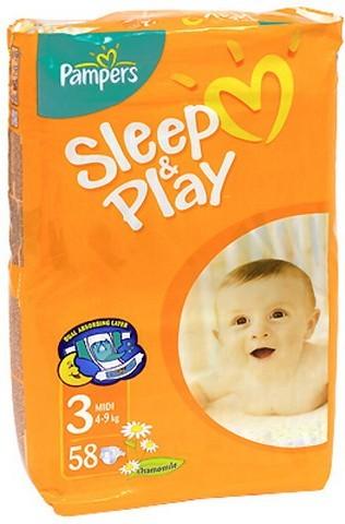 Pampers Sleep and Play Midi 4-9 кг 58 шт SotMarket.ru 1230.000