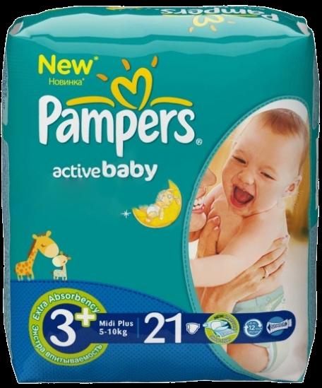 Pampers Active Baby Midi Plus 5-10 кг 21 шт SotMarket.ru 500.000