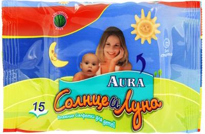 Влажные салфетки Aura Солнце и луна 15шт SotMarket.ru 120.000