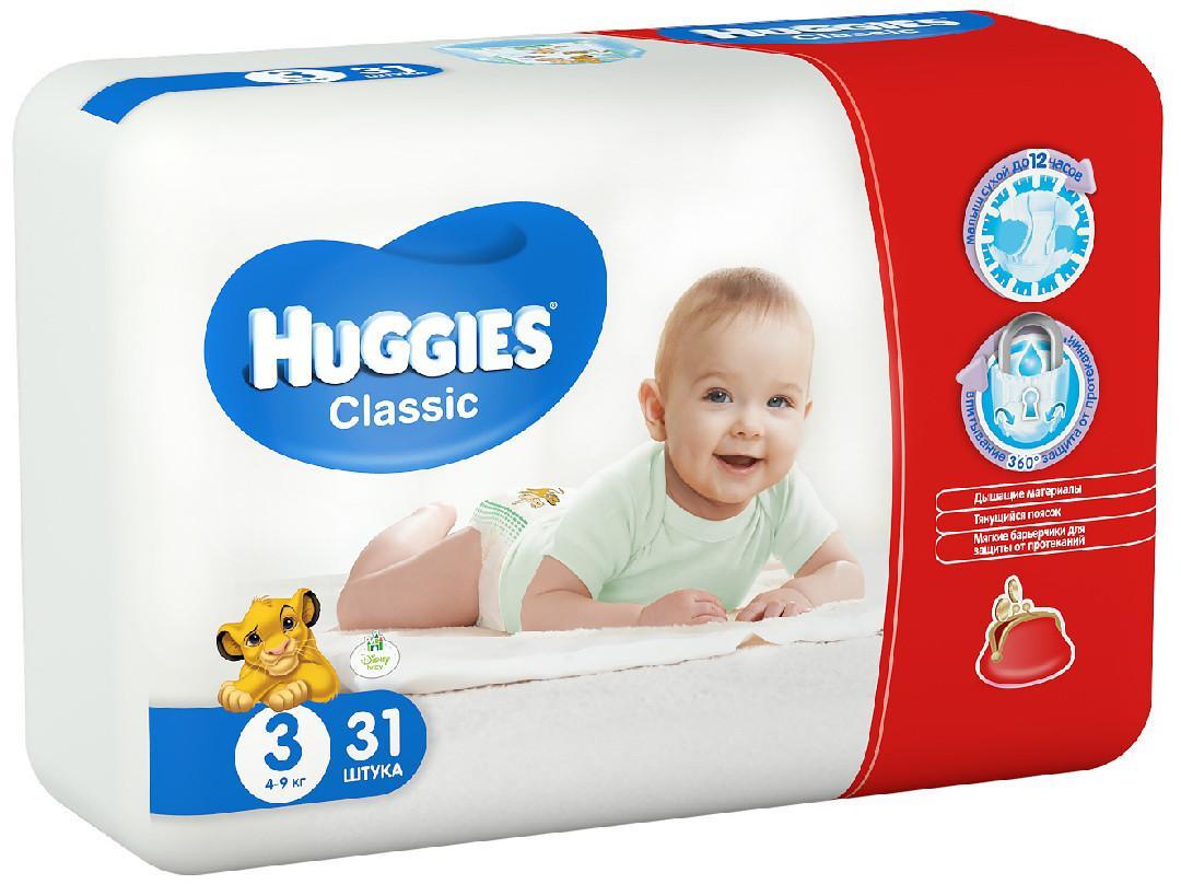 Huggies Classic Conv 4-9 кг 31 шт SotMarket.ru 500.000