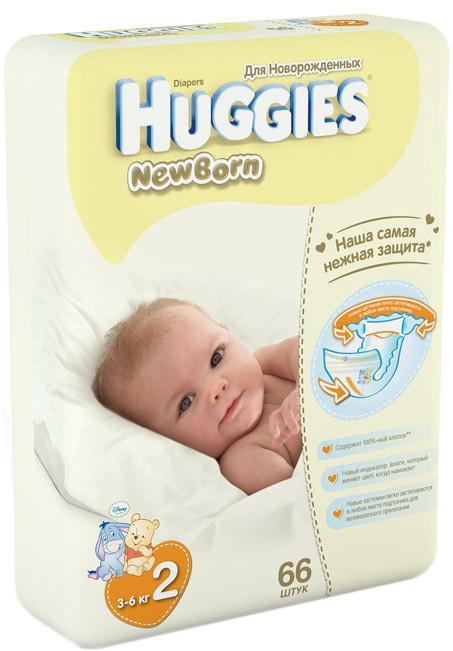 Huggies Newborn 3-6 кг 66 шт SotMarket.ru 1180.000