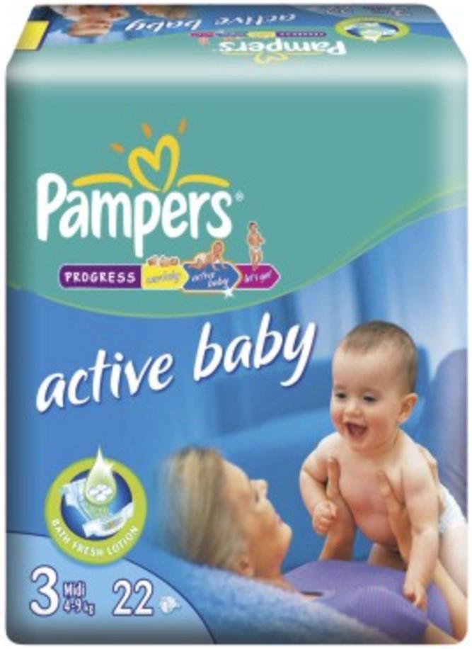 Pampers Active Baby Midi 4-9 кг 22 шт SotMarket.ru 500.000