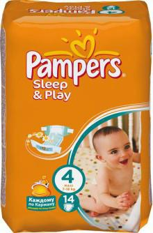 Pampers Sleep and Play Maxi 7-14 кг 14 шт SotMarket.ru 360.000