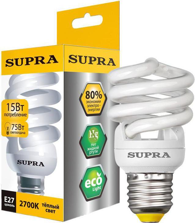Энергосберегающая лампа SUPRA SL-SP 15W E27 SotMarket.ru 160.000