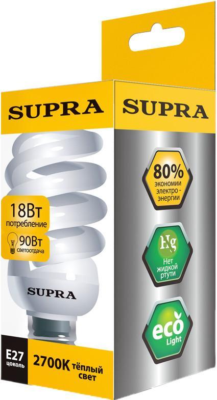 Энергосберегающая лампа SUPRA SL-SP 18W E27 SotMarket.ru 170.000