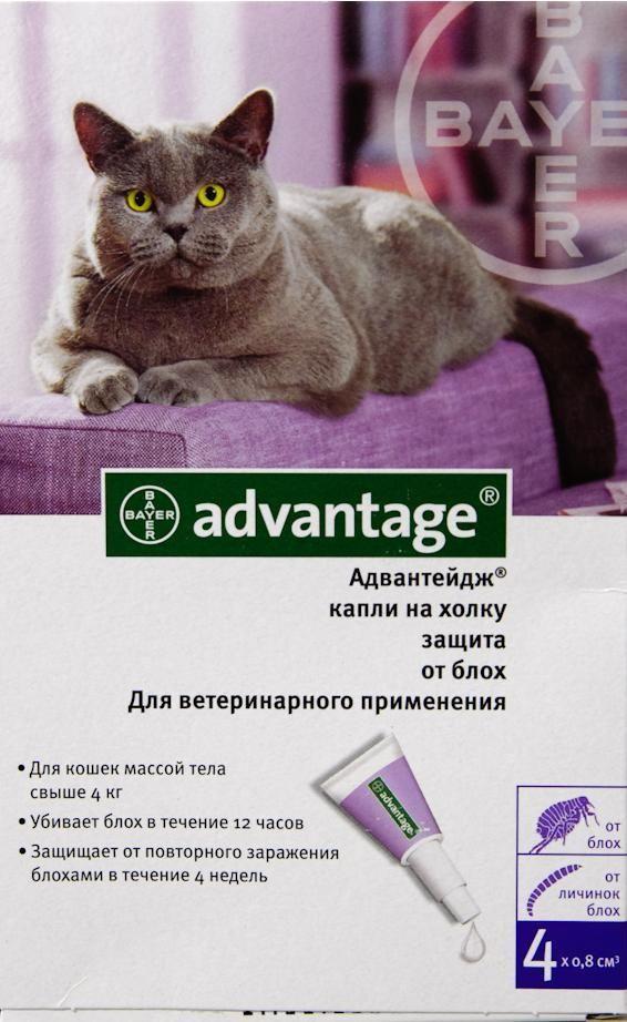 Капли на холку Bayer Advantage 80 К для кошек от 4 кг SotMarket.ru 1160.000