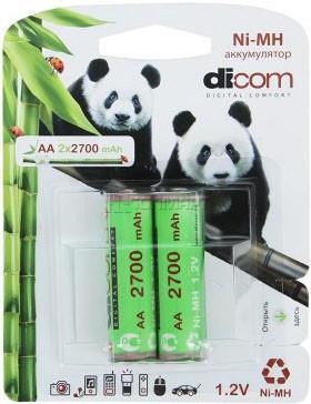 Аккумулятор Dicom Panda AA-2700 2 шт SotMarket.ru 330.000