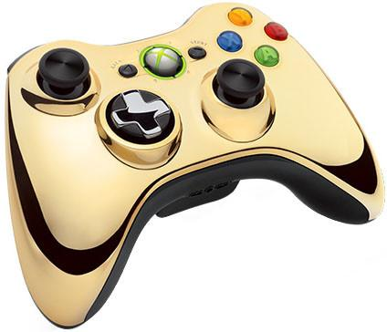 Джойстик для Microsoft Xbox 360 43G-00055 Chrome Gold