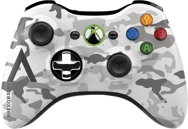 Microsoft Xbox 360 Special Edition Arctic Camouflage Wireless Controller