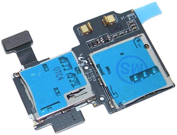 Считыватель SIM/MMC карт для Samsung Galaxy S4 i9500 ORIGINAL SotMarket.ru 790.000