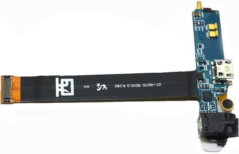 Шлейф для Samsung i9070 Galaxy S Advance с разъемом зарядки, гарнитуры и микрофоном SotMarket.ru 1100.000