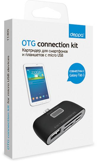 Card Reader Deppa 11402 OTG connection kit SotMarket.ru 990.000