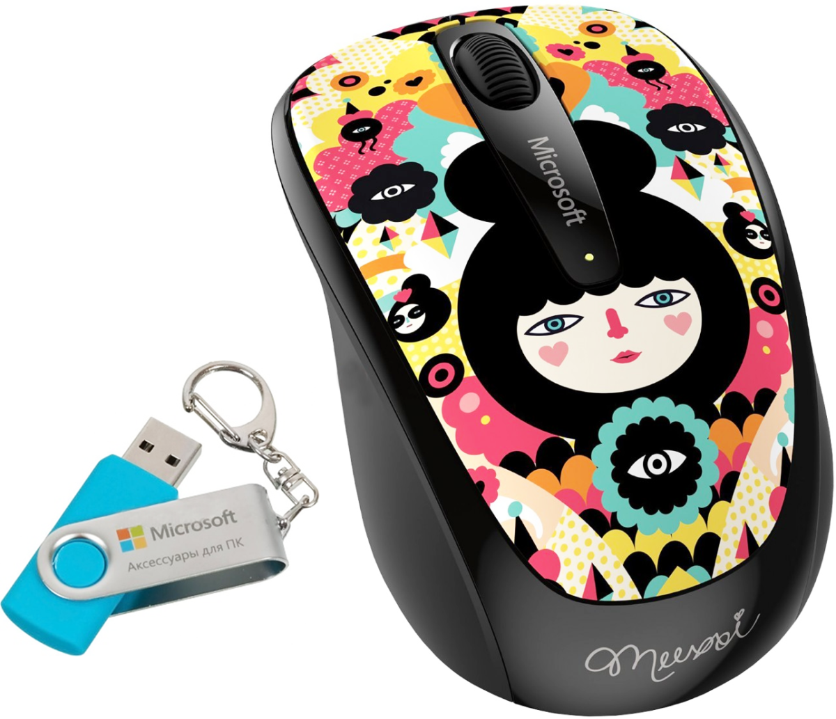 Microsoft Wireless Mobile Mouse 3500 Artist Edition Muxxi USB + флешка Microsoft 8GB SotMarket.ru 1590.000