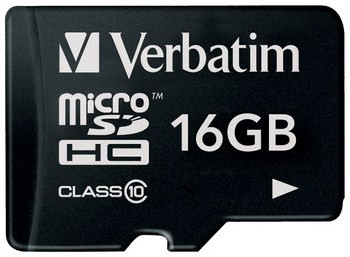 Verbatim MicroSDHC 16GB Class 10 SotMarket.ru 490.000