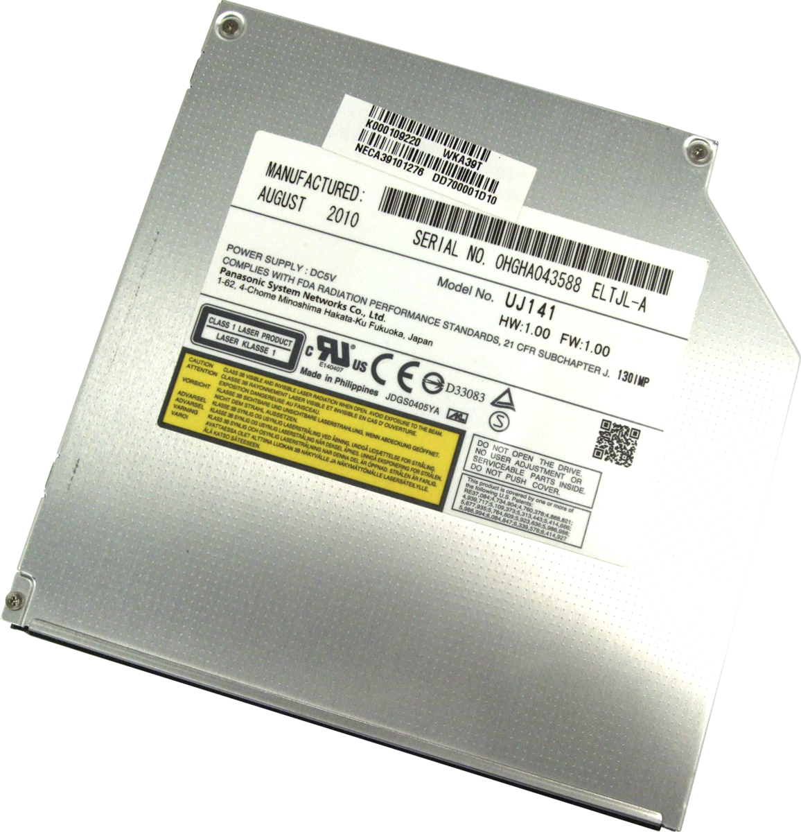 Внутренний Blu-Ray привод Panasonic UJ-141 SotMarket.ru 2970.000