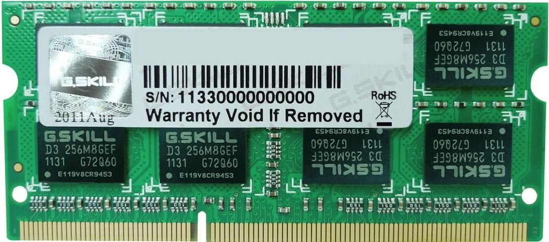 G.Skill F3-1333C9S-8GSL DDR3 8GB SO-DIMM SotMarket.ru 4120.000