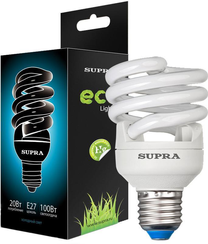 Энергосберегающая лампа SUPRA SL-FSP 20W E27 SotMarket.ru 190.000
