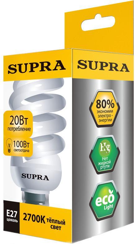 Энергосберегающая лампа SUPRA SL-SP 20W E27 SotMarket.ru 470.000