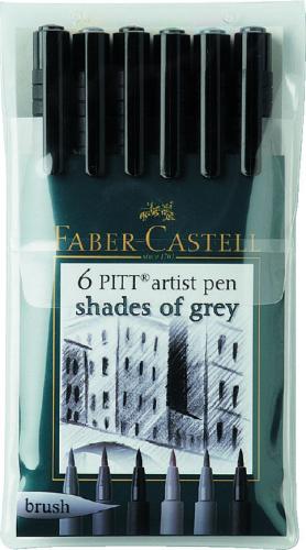 Набор ручек Faber Castell Pitt Artist Pen Brush 167104 SotMarket.ru