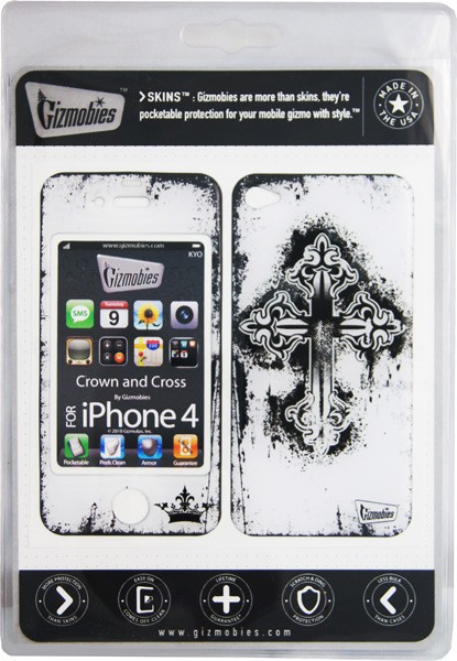 Наклейка на Apple iPhone 4 Gizmobies 3D Crown and Cross SotMarket.ru 1150.000