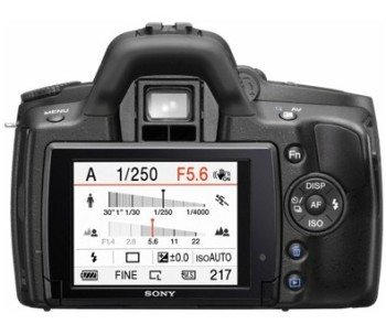 Sony Alpha DSLR-A390Y Kit 18-55, 55-200