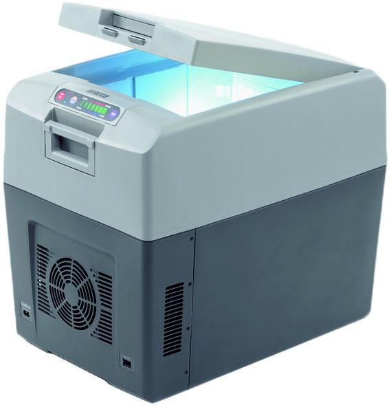 Термоэлектрический автохолодильник Waeco TC-35FL.  Объем 35 литров.  Напряжение питания - 12, 24 и 220 вольт.