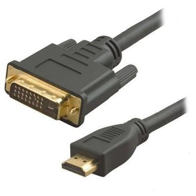 Кабель HDMI штырь - DVI штырь 7.5м Gembird CC-HDMI-DVI-7.5M, позолоченный. оценок. да...
