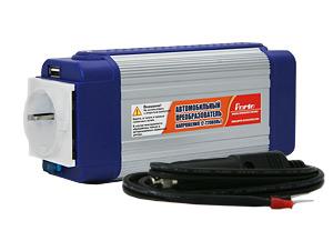 PORTO HT-E-350 автомоб преобразователь тока DC 12В на AC 220В мощность 350Вт + USB.