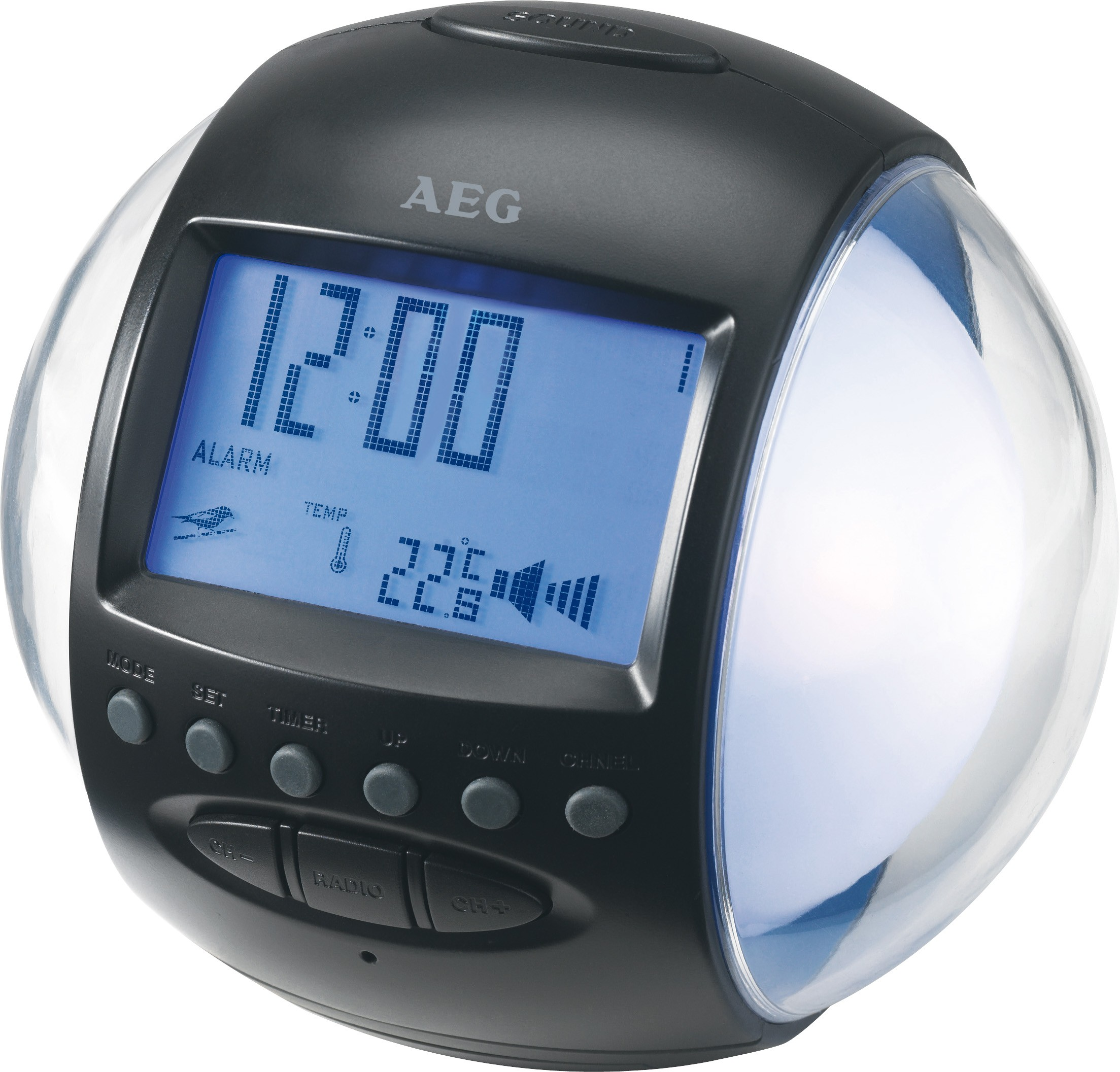Часы + Радио AEG MRC 4117 FМ-радио/будильник со звуками природы или мелодией и мигающими лампочками...