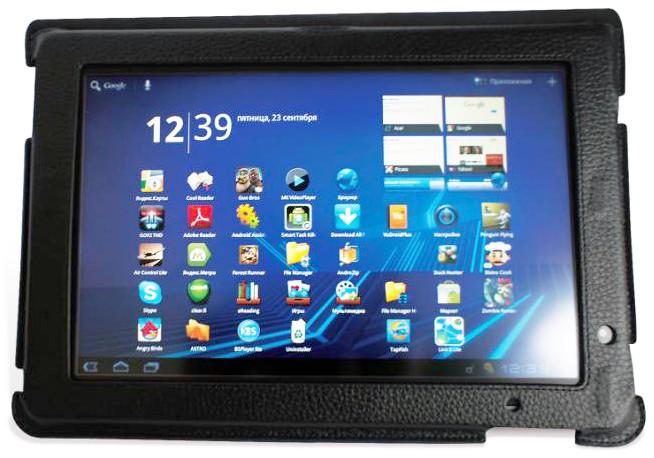 Кожаный чехол-подставка для Acer Iconia Tab A500 Untamo Uicona500BL защитит ваш планшетный компьютер от внешних...