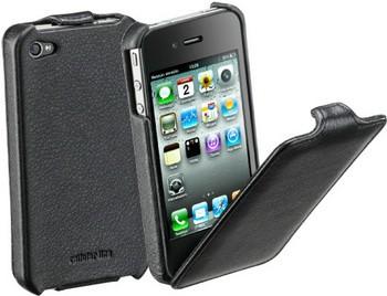 Аксессуар для мобильного телефон CELLULAR LINE FLAPIPHONE4BK 13221.