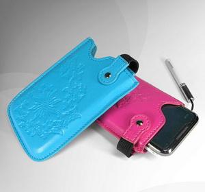 Дизайн, внешность, фотография Чехол-сумочка для Nokia C5 Танго кожаный.
