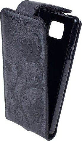 Чехол (флип-кейс) INTERSTEP LOCK Флер, черный, для Samsung Galaxy S II.  717632.