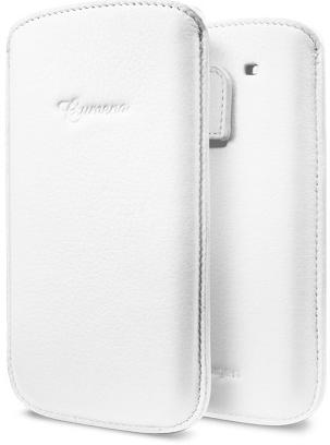 Кожаный чехол для Samsung Galaxy S3 SPIGEN SGP Crumena Leather Pouch Series White (белый) .