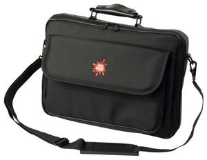 сумка для ноутбука 15.6'', нейлон, микрофибра, цвет: черный.