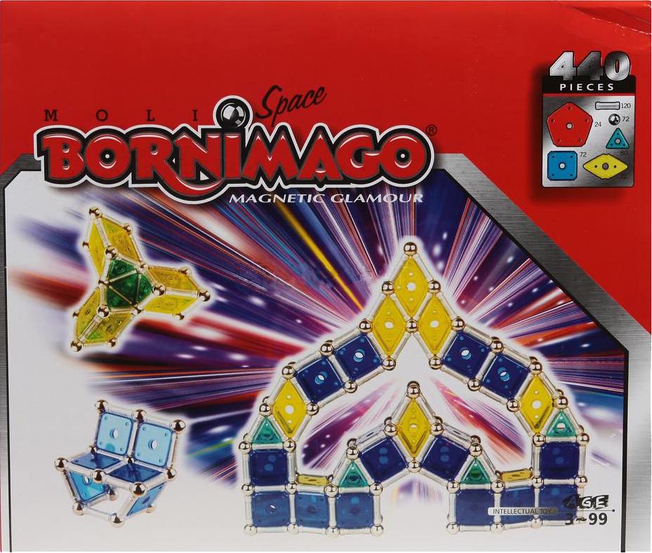 Магнитный конструктор Bornimago Space 440 деталей ML-440CP.