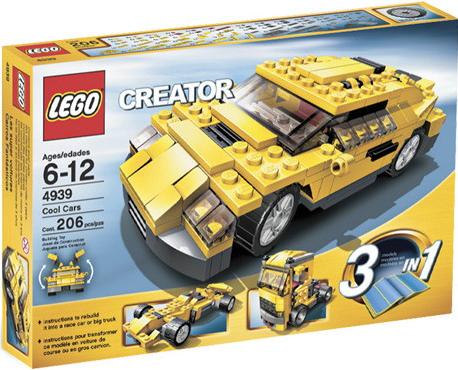 Параметры Конструктора LEGO Creator Классные машинки 4939.