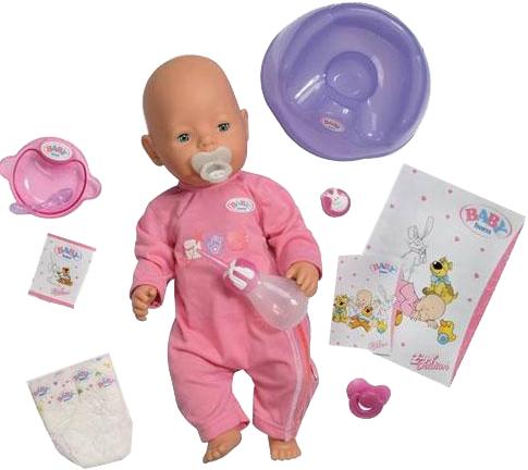 Кукла Zapf Creation Baby Born 43 см и рюкзачок с набором для пеленания 803-093S купить в интернет-магазине, цена.