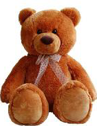 AURORA Игрушка Мягкая Медведь Коричневый 100 см - Банала.
